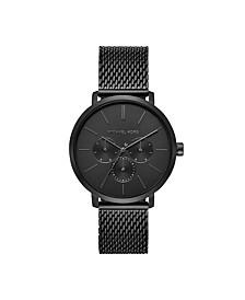 Blake Three-Hand Black Stainless Steel Mesh Watch 42mm