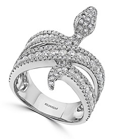 EFFY® Diamond Snake Ring (1-1/2 ct. t.w.) in 14k White Gold