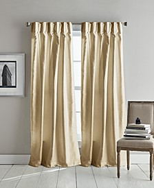 "Plaza 32"" x 96"" Inverted Pleat with Button Curtain Set"