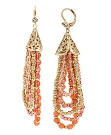 New York Mixed Bead Swag Strand Earrings