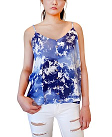 Juniors' Tie-Dyed Swing Tank Top