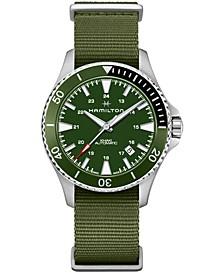 Unisex Swiss Automatic Scuba Green Nato Strap Watch 40mm