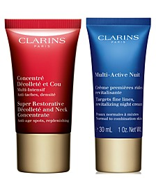 Receive a FREE 2pc Gift with any $75 Clarins Purchase