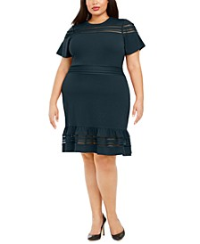 Plus Size Mesh Mix Dress