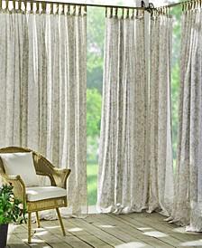 "Verena Sheer Floral 52"" x 95"" Indoor/Outdoor Tab Top Curtain Panel"