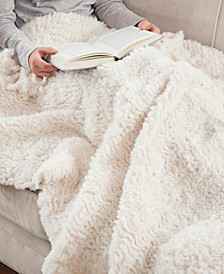 Lilly Textured Fringe Throw