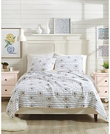 Molly Hatch by Zinnia Stripe 3-Piece King Quilt Set