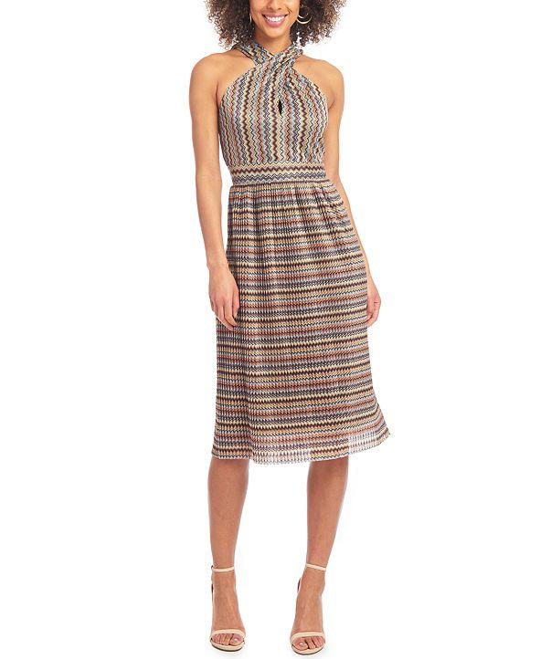 RACHEL Rachel Roy Crossneck Keyhole Dress