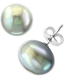EFFY® Gray Cultured Freshwater Pearl (11mm) Stud Earrings
