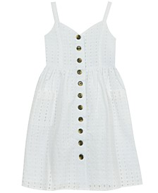 Little Girls Eyelet Midi Dress