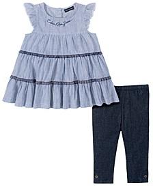 Baby Girls 2-Pc. Tiered Ruffle Tunic & Legging