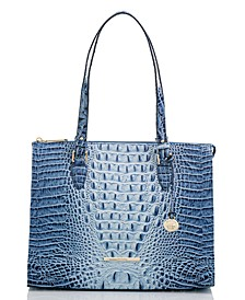 Anywhere Ombre Melbourne Embossed Leather Tote