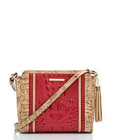 Carrie Fuego Embossed Leather Crossbody
