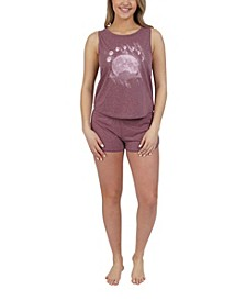 Moon Phases Tank and Short Lounge Set, Online Only