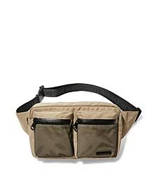 Men's Double Pocket Mesh Fanny Bag
