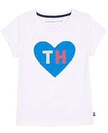 Little Girls Reversible Sequin Cotton T-Shirt