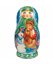 Build Snowman 5 Piece Russian Matryoshka Stacking Dolls Set