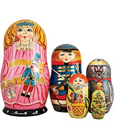 5 Piece Clara Nutcracker Russian Matryoshka Nested Doll Set
