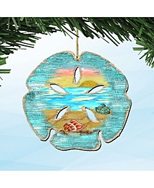 Sand Dollar Wooden Ornaments Set of 2