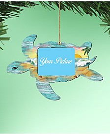 Sea Turtle Picture Frame Ornament Set of 2