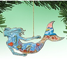SeaWorld Mermaid Wooden Ornaments Set of 2