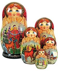 Five Piece Aleonyshaka Ivan 5 Piece Russian Matryoshka Stacking Dolls Set