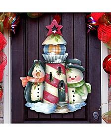 Jamie Mills Price Christmas Keepers of The Light Door Hanger