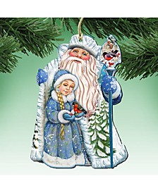 Classic Wooden Christmas Ornament, Set of 2