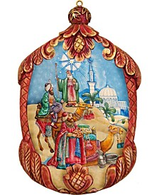 Hand Painted Three Kings Scenic Ornament