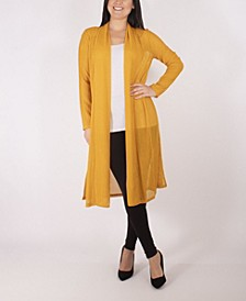 Long Sleeve Foldover Shawl Collar Duster