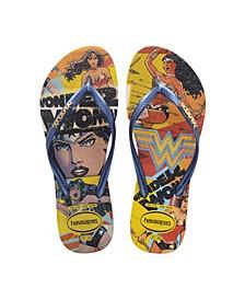 Women's Slim Wonder Woman Flip Flops