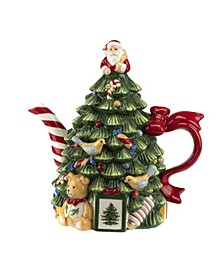 Christmas Tree Figural Tree Teapot