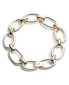 Two-Tone Oval Link Flex Bracelet