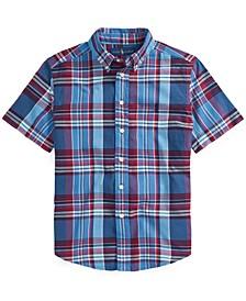 Little Boys Cotton Madras Shirt