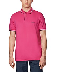 BOSS Men's Paul Curved Slim-Cit Polo Shirt