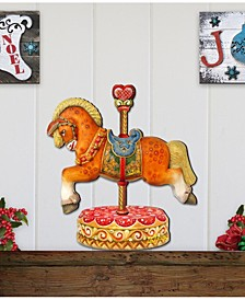Carousel Horse on Base Wooden Décor