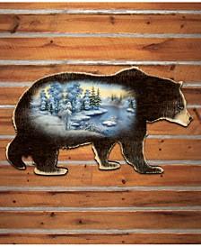 Winter Scenic Black Bear Deco