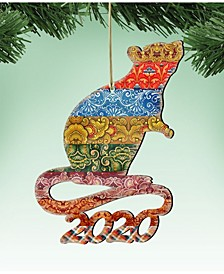 2020 Mouse Wooden Ornaments, Set of 2