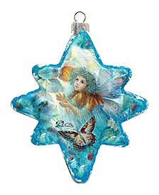 Flower Fairy Glass Ornament