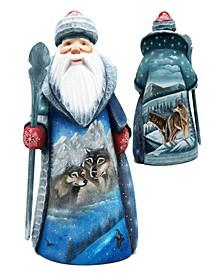 Woodcarved Hand Painted Nutcracker Santa Figurine