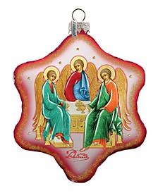 Trinity Snowflake Glass Ornament