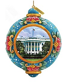 Hand Painted Scenic Ornament White House