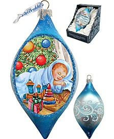 Baby 1st Christmas Drop Glass Ornament
