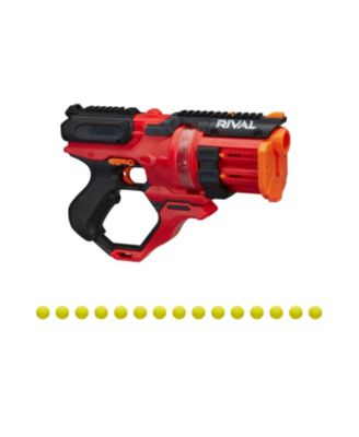 Closeout! Hasbro Nerf Rival Roundhouse Xx-1500 Red Blaster - Clear Rotating Chamber - 5 Integrated Magazines, 15 Nerf Rival Rounds