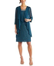 Plus Size Lace Dress & Jacket