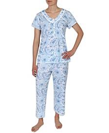 Paisley Print Pajama Set