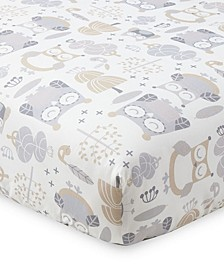 Baby Night Owl Crib Fitted Sheet