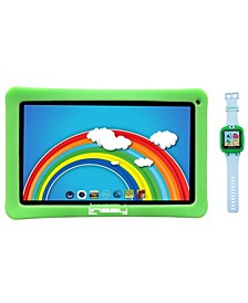 "10"" New Funny Kids Tablet with 1.5 Kids Smart Watch Cam Selfie Android 6.0"