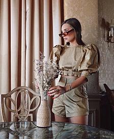 Danielle Bernstein High-Cut Micro-Dot Shorts, Created for Macy's