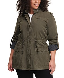 Trendy Plus Size Lightweight Cotton Fishtail Parka
